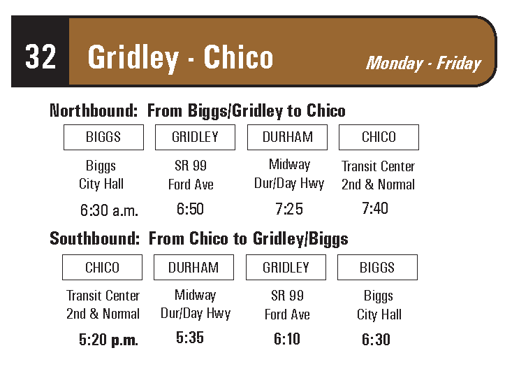 Route 32 (Gridley - Chico)